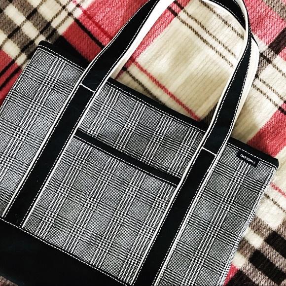 af194746d Lands' End Bags | Lands End Zip Top Glen Plaid Canvas Tote | Poshmark